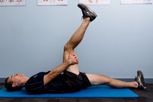 supine hamstring stretch  physio pro